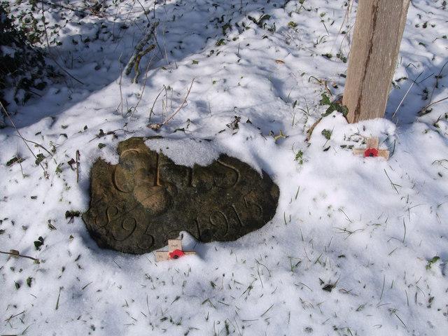 Charles H. Sorley memorial stone, Poulton Downs