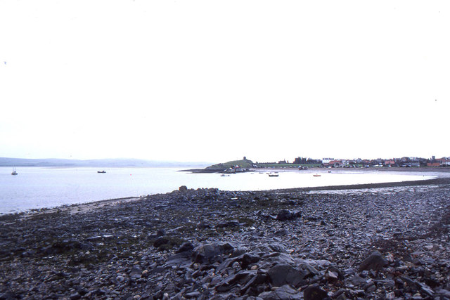 Holy Island: looking west across the Harbour