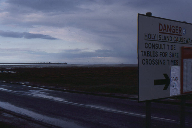 Approaching the causeway to Holy Island