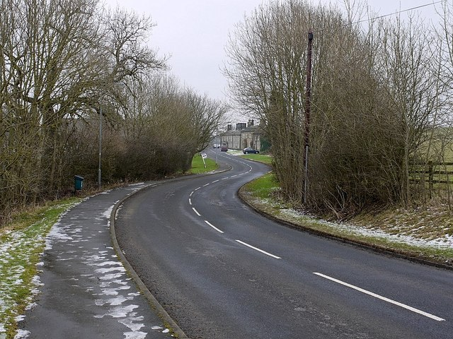 Road west of Bridge End, Stamfordham