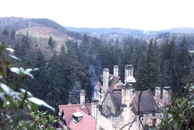 Cragside House from above