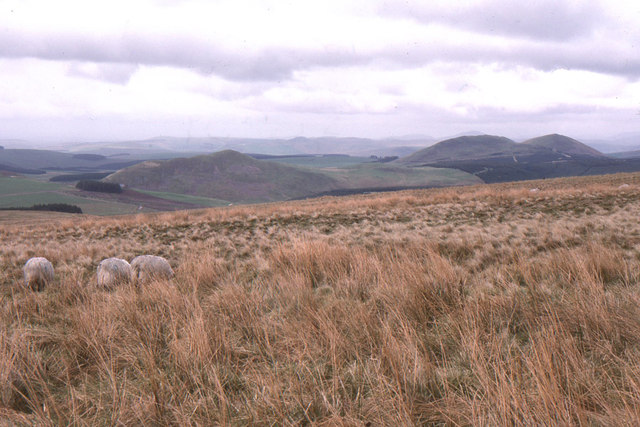 Carter Bar: looking north into Scotland towards Knock Hills