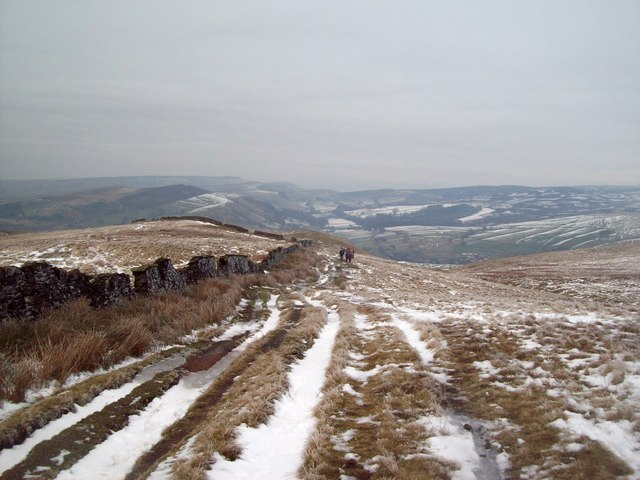 Bridleway Descending Towards Foxholes Clough