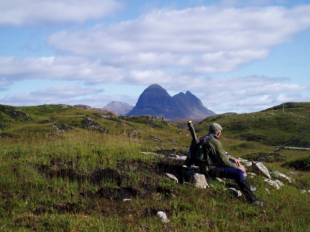 Suilven from above Loch an Arbhair