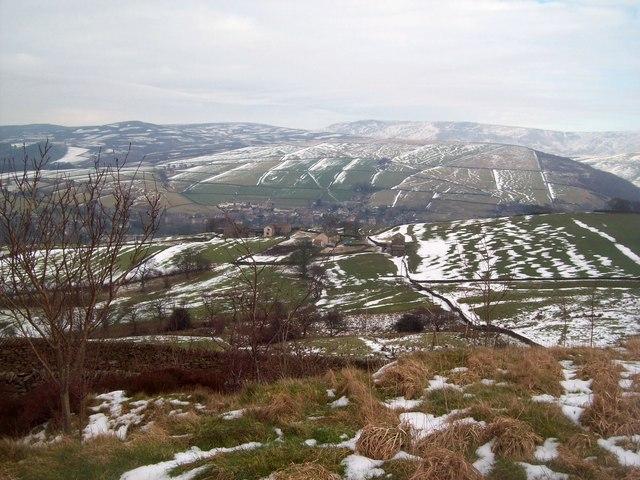 Overlooking Ridge Top and Hayfield