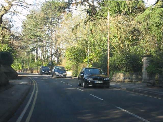 Solihull - Warwick Road north of Manor Road