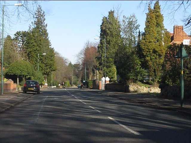 St Bernards Road at Mereside Way (southern end)
