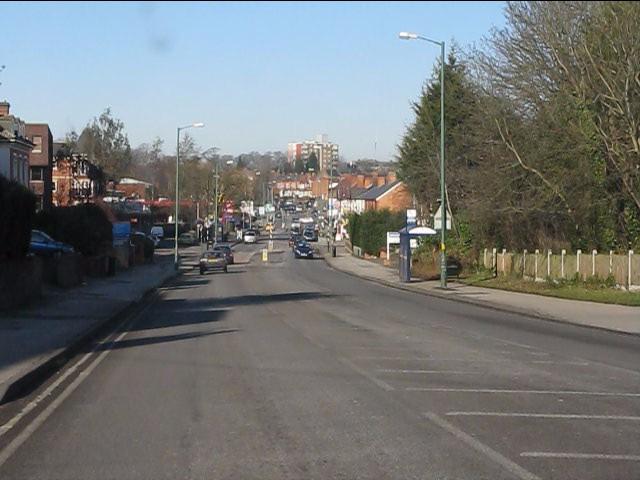 Warwick Road descending towards Birmingham