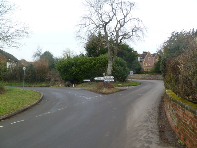 Witchampton, road junction
