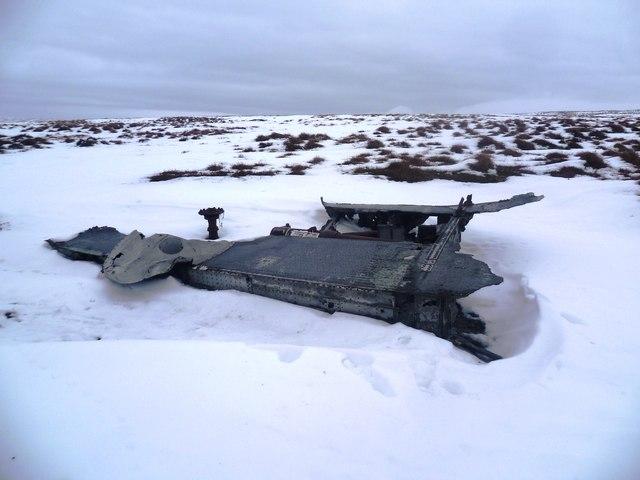Aircraft Wreckage - Liberator B-24J on Mill Hill