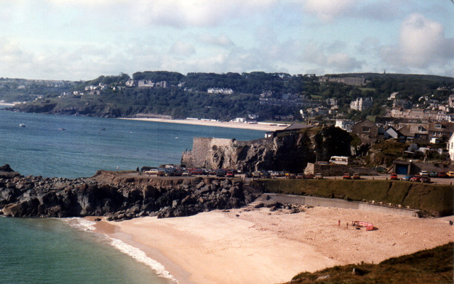 St Ives Porthgwidden From The Island 1985