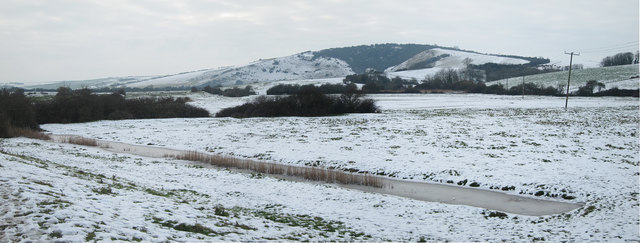 Snowy Fields West of Litlington