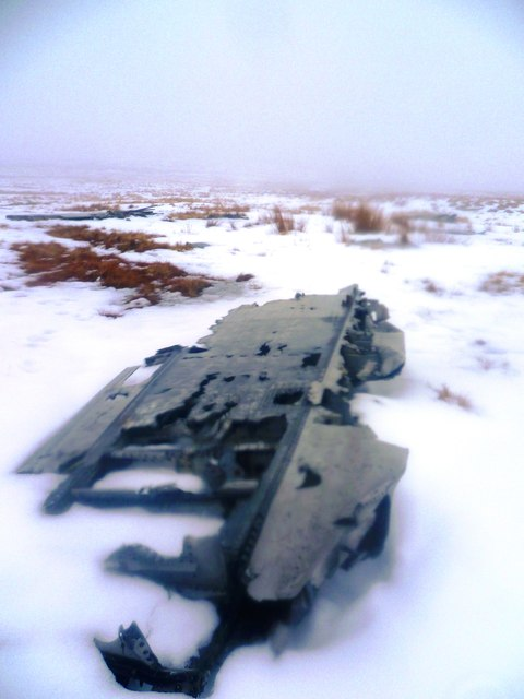 Wreckage on Black Ashops Moor
