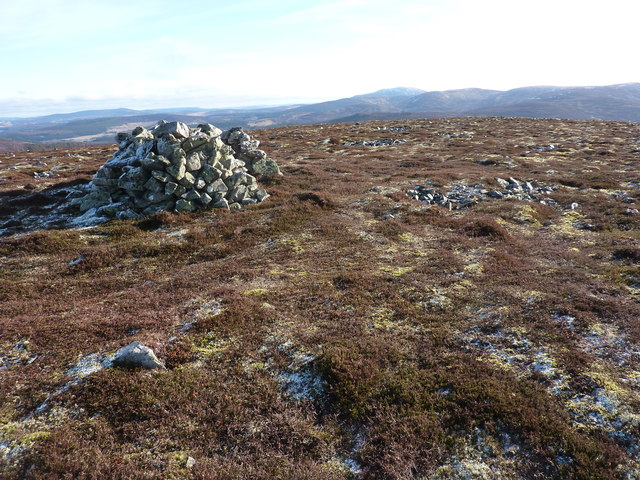 The top of Geal Charn, looking east