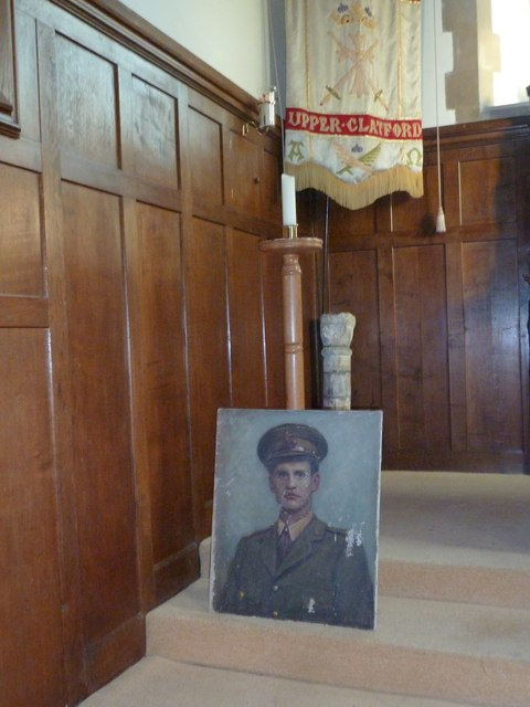 All Saints, Upper Clatford: military portrait