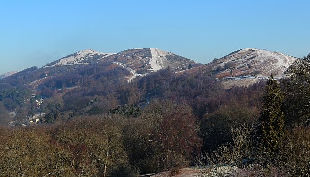 The Malvern Hills with a dusting of snow
