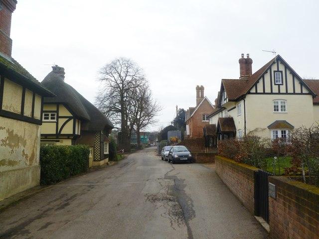 Witchampton, village street