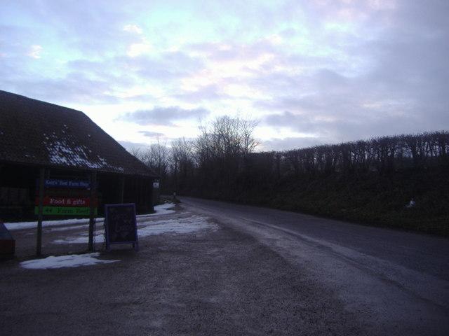 Entrance to Castle Farm, Lullingstone