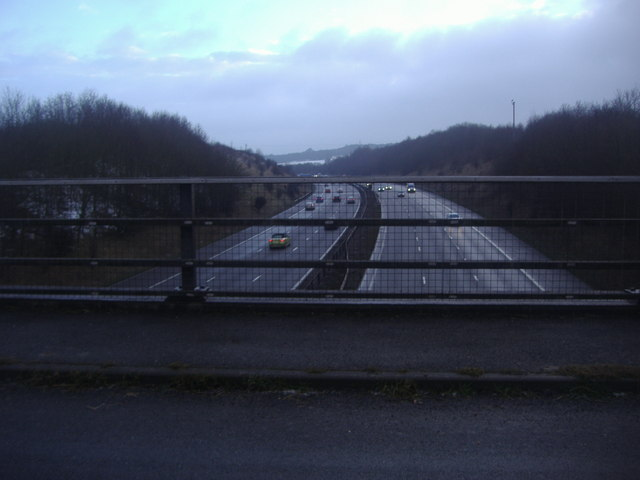 The M25 from Parkgate Road near Lullingstone