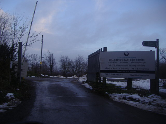 The entrance to Lullingstone Park golf course