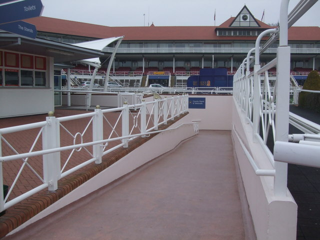 Ramp to the County Stand and Tattersalls Chester Racecourse