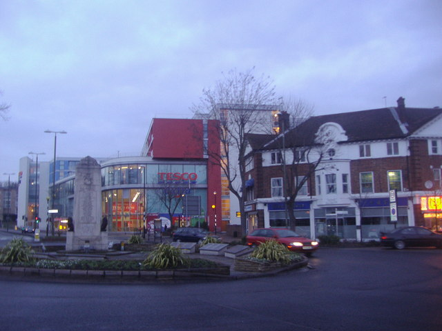 Roundabout on Sevenoaks Road, Orpington
