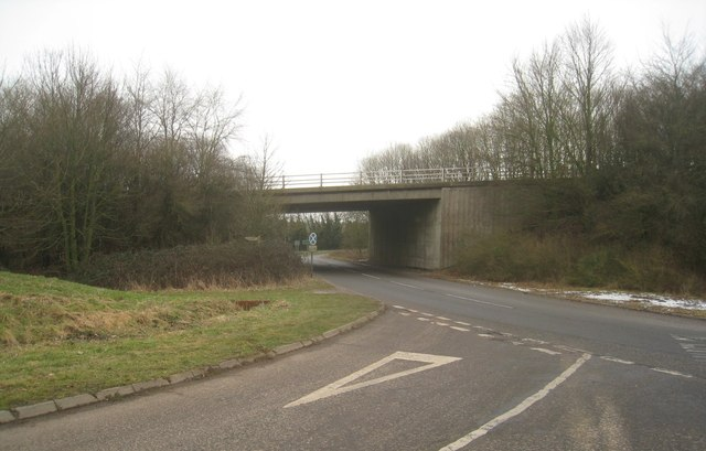 Passing under the A34