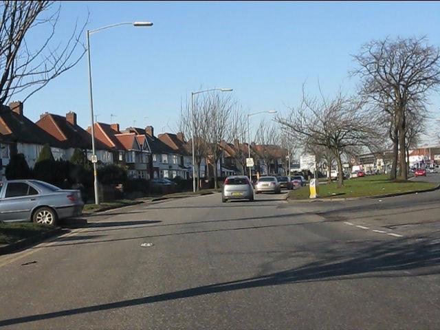 Stechford Lane curving north