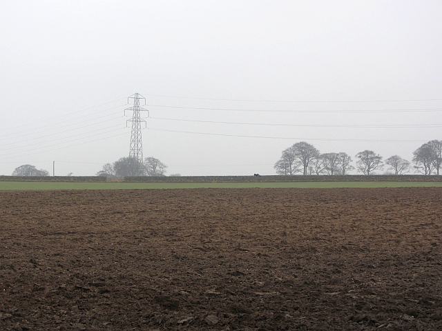 Ploughed field near Newton Hall