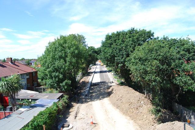 Fareham to Gosport BRT - View from Gregson Avenue Bridge (30)