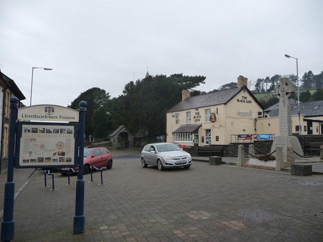 Part of Llanbadarn Fawr village