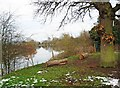SO7971 : Two log seats overlooking the River Severn, near Stourport-on-Severn by P L Chadwick