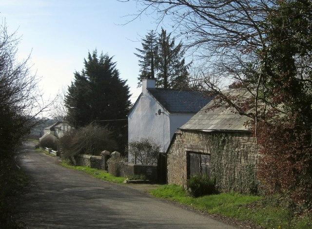 Cottages near Broadwoodwidger