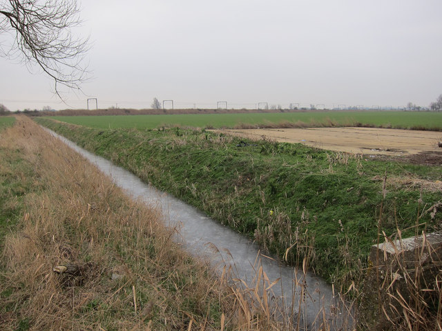 Ditch and hardstanding area