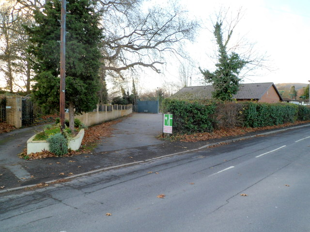 Entrance to Abergavenny Tennis Club
