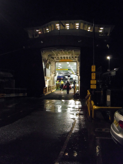 MV Fionnlagan Docking at Night