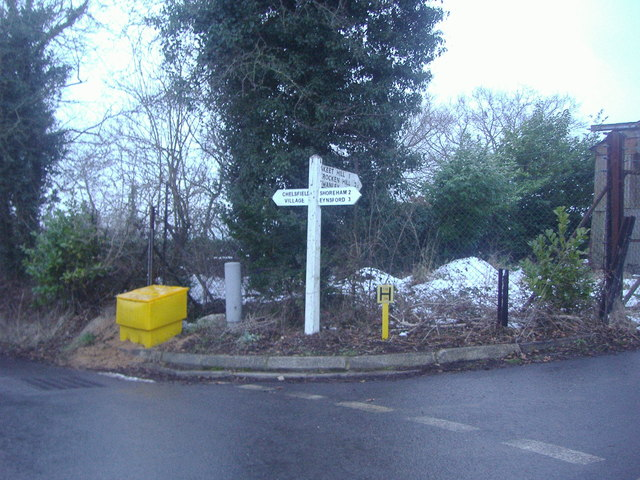 Junction of Well Hill and Rock Hill