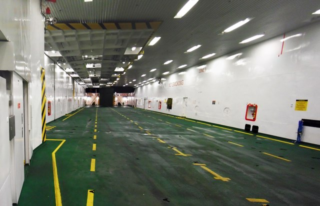 Vehicle Deck of the MV Fionnlagan