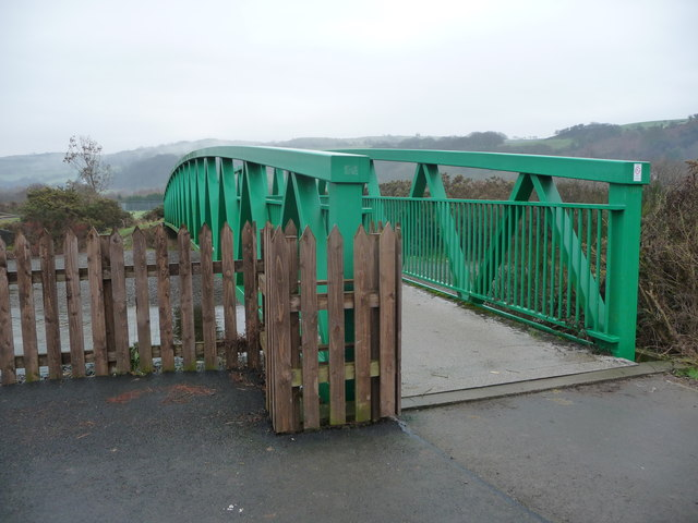 Metal footbridge over the Afon Rheidol near Llanbadarn Fawr