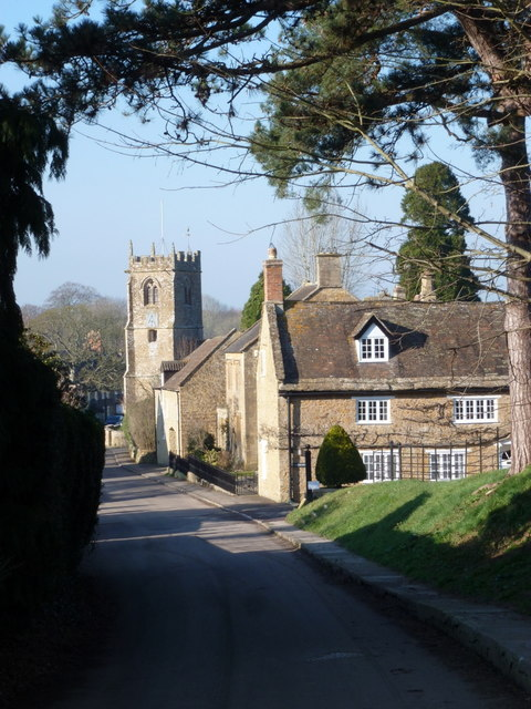 Nether Compton: approaching the church
