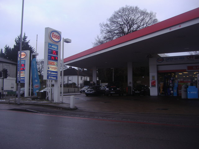 Esso garage on the corner of Westerham Road and Croydon Road