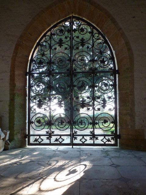 Trent: church porch gate