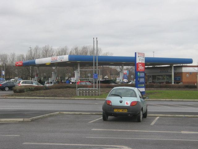 Tesco fiiling station in Hartlepool