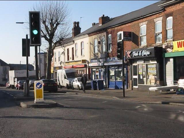 Local shops at Church Road traffic lights