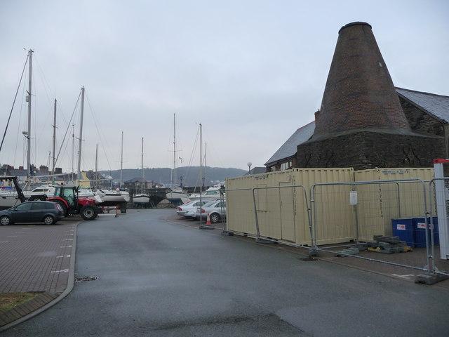 An old malt house kiln near the harbour, Aberystwyth