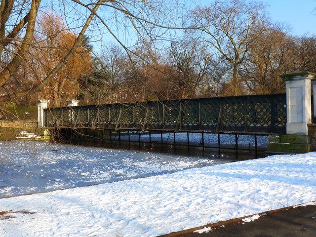 Footbridge near to Clarence Gate, Regent's Park, London