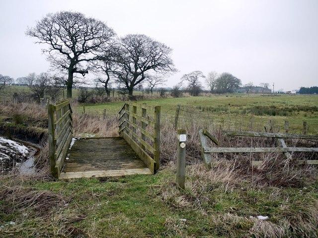 Footbridge over Sparrow Letch south-west of Coldside