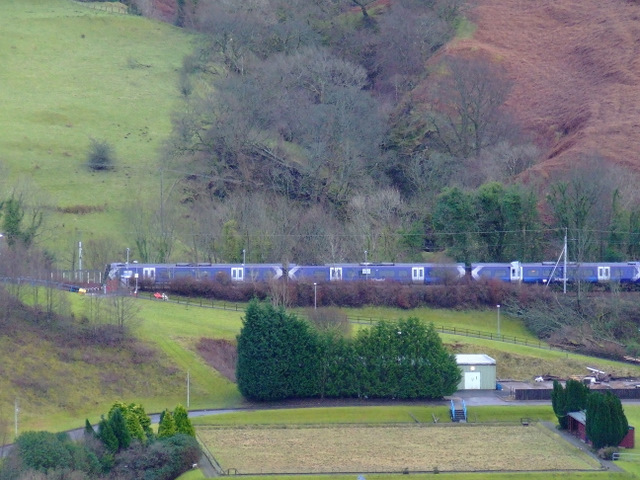 Train approaching IBM Halt