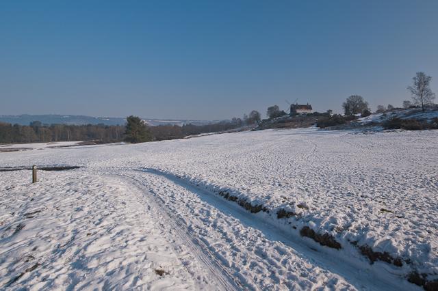 Reigate Heath in snow