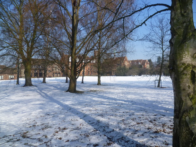 Snowy scene at Homerton College